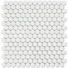 thassos white greek marble penny round mosaic tile polished  with thassos white greek marble penny round mosaic tile honed from amazoncom