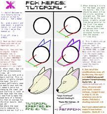 fox head tutorial by renafoxx on deviantart