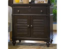 universal home louvered door nightstand with pull out shelf