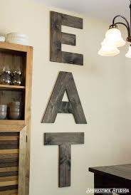 large eat sign wood 24 tall letters by smokestackstudios wood
