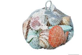 polished shells plastic net hanger white