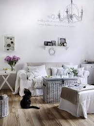 living room shabby chic living room with wicker table also white