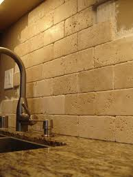 pictures of stone backsplashes for kitchens travertene subway tiles stacked not grouted love it i wanted