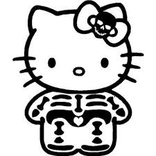 kitty skeleton ray vinyl sticker wall car