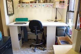 Built In Desk Diy Make Your Own Built In Craft Desk