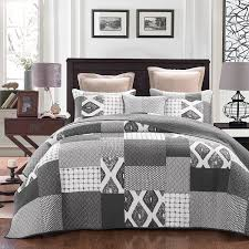 Grey Quilted Bedspread Printed U0026 Mizone Floral Coverlet Sets U2013 Ease Bedding With Style