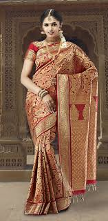 engagement sarees for crimson engagement banarasi silk saree vihaanapparels