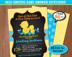 rubber duck baby shower duck baby shower etsy