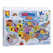 Map De Usa by Usa Map In The Tub Bath Toys By Alex Toys