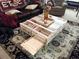 Pallet Coffee Tables Pallet Coffee Table With Glass Top U0026 Storage 101 Pallets
