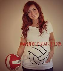 volleyball maternity shirt halloween volleyball baby bump tee or