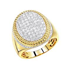 large gold rings images Large diamond ring for men 10k gold 1 75ct by luxurman jpg