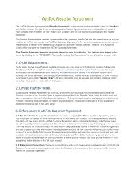 reseller contract template athtek reseller agreement template