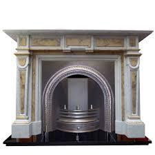antique early victorian carrara marble chimneypiece