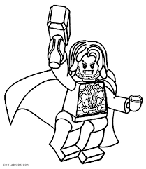 Printable Thor Coloring Pages For Kids Cool2bkids Lego Coloring Pages For Boys Free