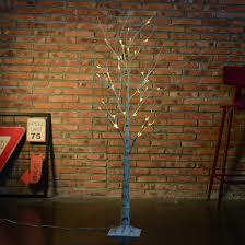 6ft pre lit lighted twig branches tree light l 216led frosted