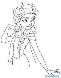 coloring elsa printable coloring pages