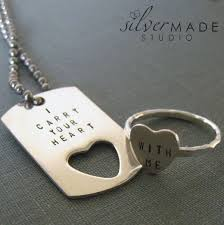 heart ring necklace images Handmade i carry your heart petite dog tag and sterling silver jpg