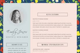 floral pattern resume template cv cover letter template by