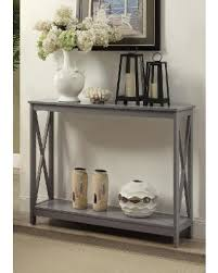convenience concepts console table don t miss this deal oxford console table in gray finish
