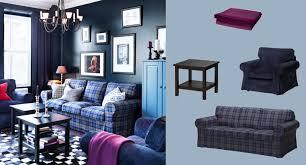 Ikea Ektorp Armchair Cover Ektorp Three Seat Sofa With Rutna Multicoloured Cover And Ektorp