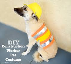 dog clothes for halloween diy construction worker pet costume from michaelsmakers chase the