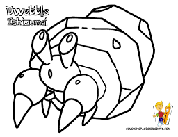 dwebble pokemon coloring pages book for boys bebo pandco