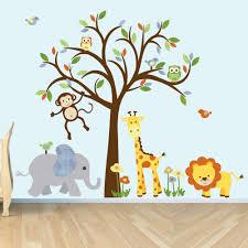 wall decal jungle animal sticker nursery decor giraffe zoom