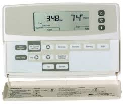 blank display on thermostat problem screen hvac heating and cooling