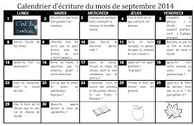 Calendrier décriture  Dix mois