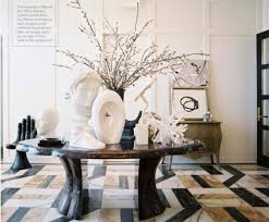 Marble Entry Table This Entryway Features Custom Marble Flooring An Antique Round