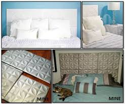 Faux Headboard Ideas by Faux Tiled Headboard Nice The Wall And To The
