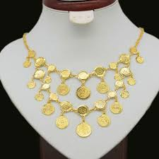 coin necklace gold images New gold coin necklace for women men gold color coin big necklaces jpg