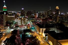 downtown san antonio christmas lights view of san antonio city texas at night with christmas lights