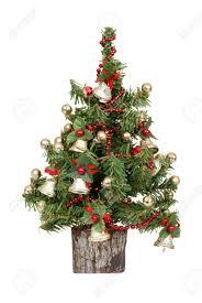 decorated mini tree stock photo small