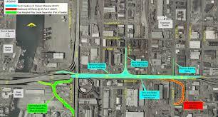 Seattle Street Map by Sdot Spokane Street Viaduct Widening Project