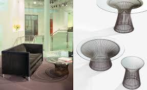coffee table platner 36 bronze coffee table hivemodern com gold