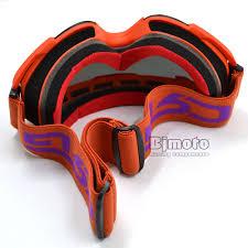motocross goggles for glasses mg 019 man women goggles smoke lens orange frame motocross goggles