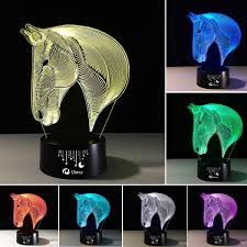 3d Lamps Amazon Horse Head 3d Night Light Touch Table Desk Lamps Elstey 7 Color