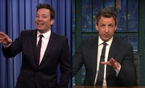 Desk Pop The Other Guys Jimmy Fallon And Seth Meyers Are The Faces Of A Growing Divide In