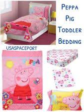 Peppa Pig Toddler Bed Set Peppa Pig Bed Sheets Ebay