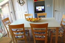 How To Paint A Kitchen Table Our Kitchen Table Makeover MomAdvice - Painting kitchen table