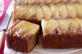 ginger pear and ginger upside down cake