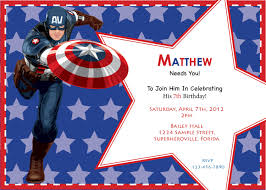 Create Your Own Flag Captain America Birthday Invitations Lilbibby Com