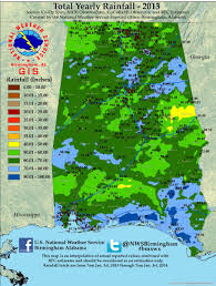 Rainfall Totals Map Annual Rainfall Totals For Alabama 2013