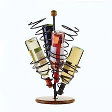 buy gourmet basics spiral 6 bottle wire wine rack online at mikasa com
