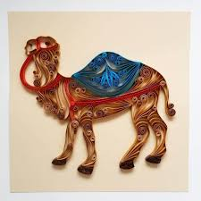 quilled paper art camel 78x78