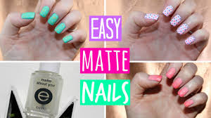 matte nail polish tutorial 3 easy designs youtube