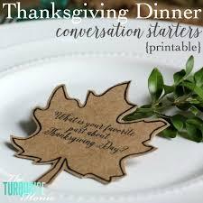 thanksgiving dinner conversation starters printable the