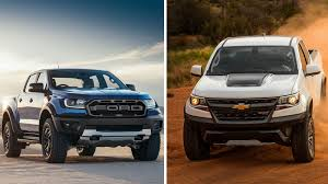 chevy baja truck street legal ford ranger raptor compared with 2018 chevy colorado zr2 autoblog
